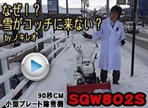 なぜ?雪がコッチに来ない!?ノキレオ SGW802S